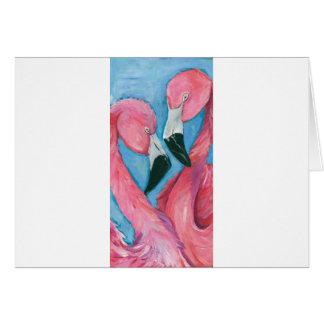 Cartão Dois flamingos
