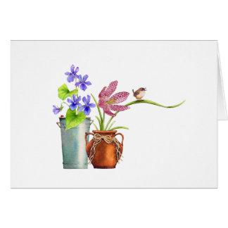 Cartão Dois Flowerpots