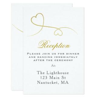Cartão Dois inserção mínima da recepção de casamento dos