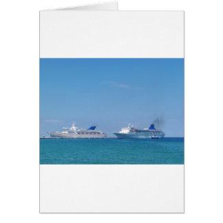 Cartão Dois navios de cruzeiros