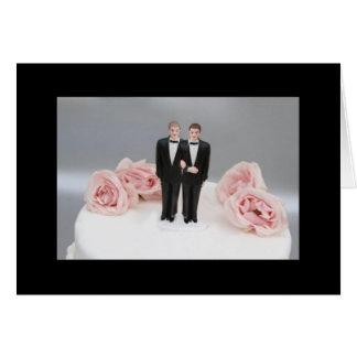 Cartão Dois noivos