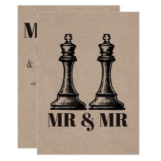 Cartão Dois reis Gay Casamento