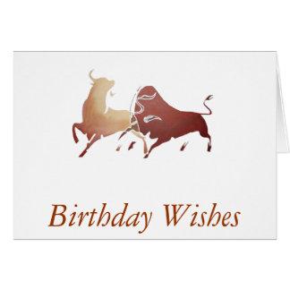 Cartão Dois touros de combate