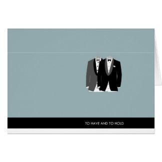 Cartão Dois Tuxes - para ter e guardarar