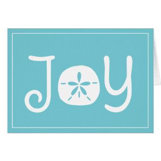 Cartão Dólar de areia da alegria do feriado do Natal da