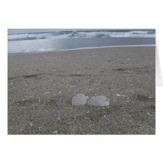 Cartão Dólares de areia da praia
