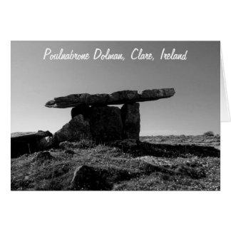 Cartão Dólmâ de Poulanabrone, Clare, Ireland