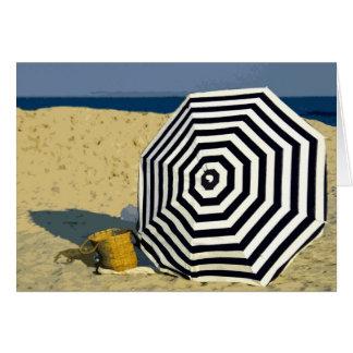 Cartão Domingo na praia