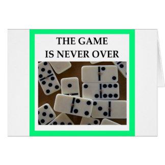 Cartão dominós