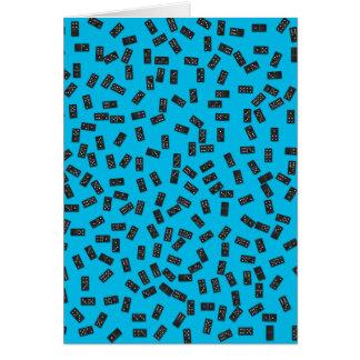 Cartão Dominós no azul