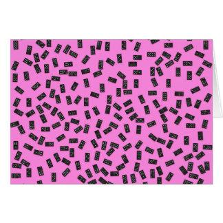Cartão Dominós no rosa