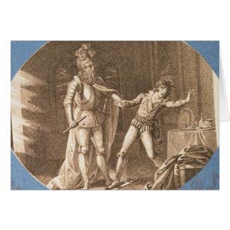 Cartão Don Giovanni e a estátua do Commandantore