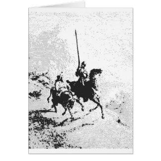 Cartão Don Quixote e Sancho Panza