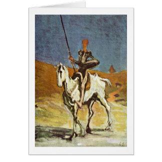 Cartão Don Quixote e Sancho Panza por Honore Daumier