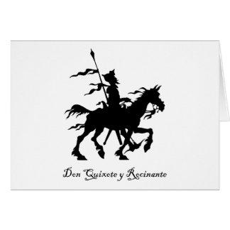 Cartão Don Quixote monta outra vez
