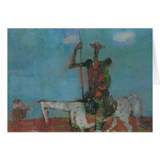Cartão Don Quixote Sancho lento Stanislav Stanek
