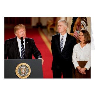 Cartão Donald Trump com Neil & Louise Gorsuch
