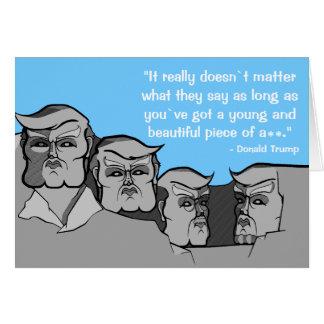 Cartão Donald Trump como o Monte Rushmore