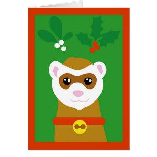 Cartão Doninha de Yuletide
