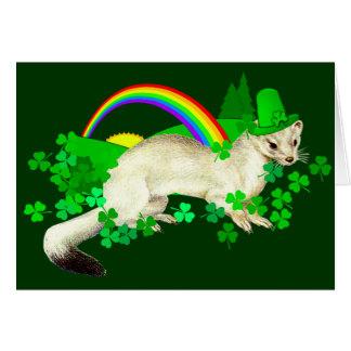 Cartão Doninhas do dia de St Patrick