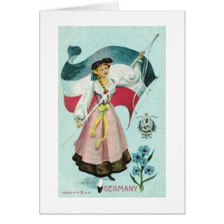 Cartão Donzela alemão - 1900's adiantado