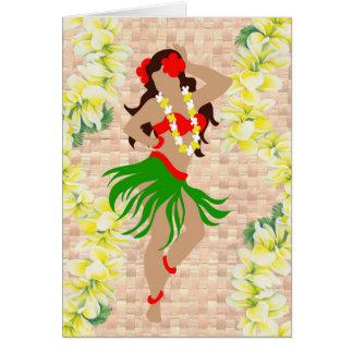 Cartão Donzela de Hula