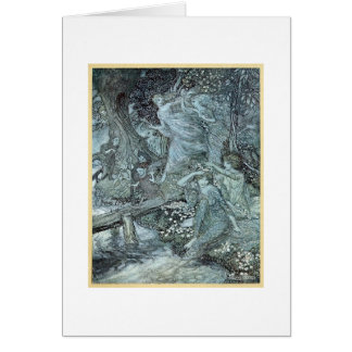 Cartão Donzelas em uma floresta (vazio para dentro)