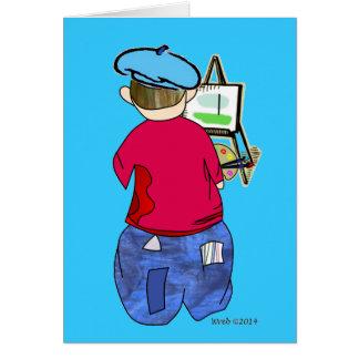 Cartão Doodle de Abe R - Artiste de Zee
