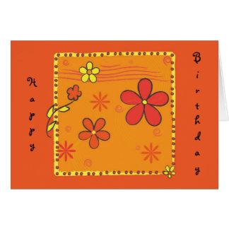 Cartão Doodles da flor