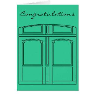 Cartão Doris a porta/parabéns