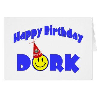 Cartão Dork do feliz aniversario