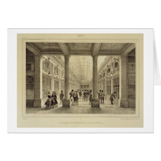 Cartão d'Orleans de Galerie no Palais Royal, 'de Paris