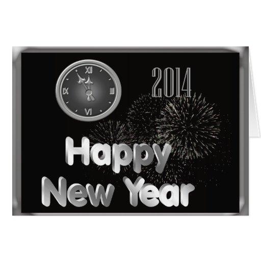 Cartão dos 2014 felizes anos novos