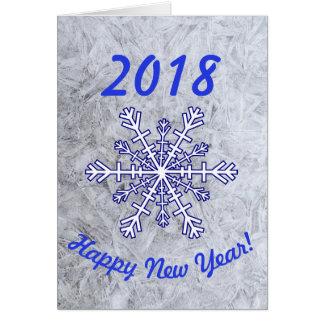 Cartão dos 2018 felizes anos novos