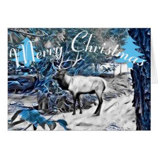Cartão dos alces do Natal