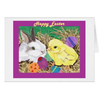 Cartão dos amigos da páscoa