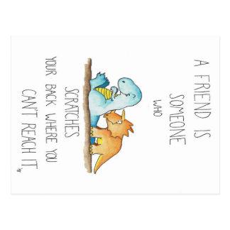 Cartão dos AMIGOS do DINOSSAURO por Nicole Janes