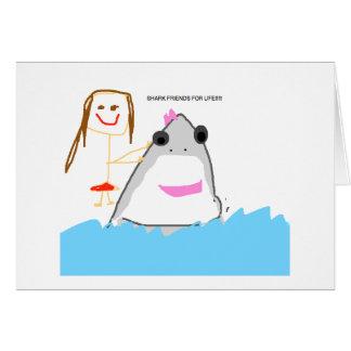 cartão dos amigos do tubarão