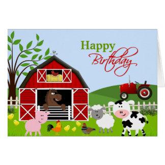 Cartão dos animais de fazenda do Barnyard