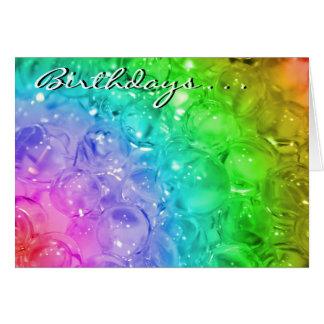 Cartão dos aniversários…