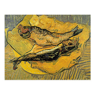 """Cartão dos """"arenques defumados"""" de Van Gogh"""