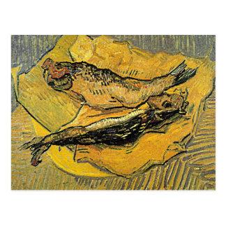 """Cartão dos """"arenques defumados"""" de Van Gogh Cartão Postal"""