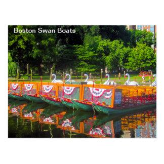 Cartão dos barcos da cisne de Boston