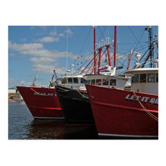 Cartão dos barcos de pesca de New Bedford