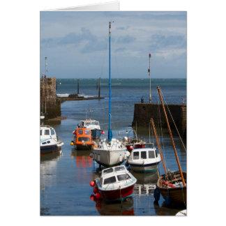 Cartão dos barcos do porto de Lynmouth