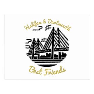 Cartão dos botões dos melhores amigos de Halifax &