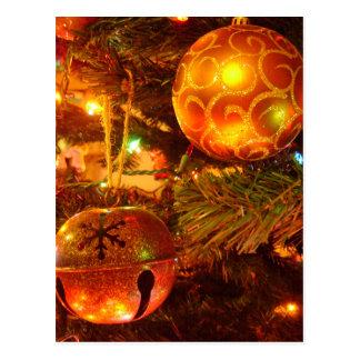 Cartão dos bulbos do Natal