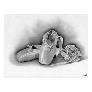 Cartão dos calçados de balé