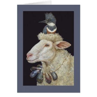 Cartão dos carneiros da costa