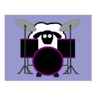 Cartão dos carneiros do baterista